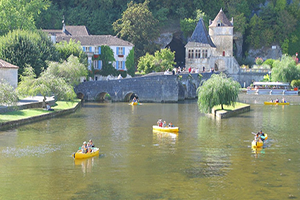 Canoeing at Bratome, France